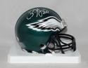 Brian Dawkins *White* Philadelphia Eagles Mini Helmet - JSA W Auth