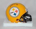 James Harrison Autographed Pittsburgh Steelers Yellow Mini Helmet  JSA Witness