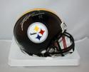 James Harrison Autographed Pittsburgh Steelers Mini Helmet  JSA Witness  *silver