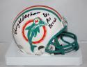 Dwight Stephenson Autographed MIami Dolphins 80-96 TB Mini Helmet- SGC Auth INSC