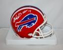 Andre Reed Autographed Buffalo Bills 87-01 TB Red HOF  Mini Helmet- SGC Auth