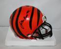 John Ross Autographed Cincinnati Bengals Mini Helmet- JSA Witnessed Auth *Black*