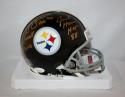 Lambert, Ham, Russell PIttsburgh Steelers 63-76 Mini Helmet- JSA Witness *Gold*