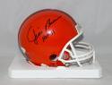 Jim Brown Autographed Cleveland Browns TB Mini Helmet JSA Witness Authentication