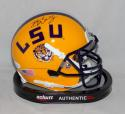 Brad Wing Signed LSU Tigers Schutt Yellow Mini Helmet - JSA Witness Auth *black*
