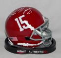 Marlon Humphrey Alabama Crimson Tide Schutt Mini Helmet *white* - JSA W Auth