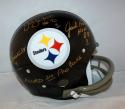 Ham Lambert Russell Autographed Pittsburgh Steelers F/S TK Helmet- JSA W  *Gold*