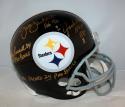 Ham Lambert Russell Autographed Pittsburgh Steelers 63-76 F/S Helmet- JSA W Gold