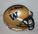 Jon Ross Signed Washington Huskie Gold Mini Helmet - JSA Witness Auth *black*