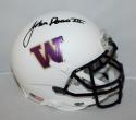 Jon Ross Signed Washington Huskies White Mini Helmet - JSA Witness Auth *black*