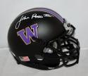 Jon Ross Signed Washington Huskies Black Mini Helmet - JSA Witness Auth *White*