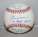 John Candeleria Autographed Rawlings OML Stat Baseball  - JerseySource Auth