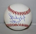 Sparky Lyle Autographed Rawlings OML Baseball 77-78 WSC Insc -JerseySource Auth