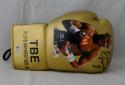 Floyd Mayweather Autographed Gold TBE Image Custom Boxing Glove - Beckett Authen