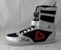 Floyd Mayweather Autographed Reebok Boxing Shoe Left Beckett BAS *Black*