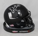 Warrren Sapp Signed Miami Hurricanes Black Schutt Mini Helmet JSA Witness Auth