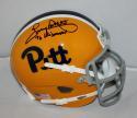 Tony Dorsett Signed PIttsburgh Panthers TB Schutt Mini Helmet JSA Wit Heisman INSC