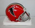 Deion Sanders Autographed Atlanta Falcons Red Mini Helmet- JSA Witn Auth *white*