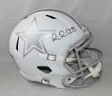 Michael Irvin Autographed *Black F/S Silver Dallas Cowboys ICE Helmet- JSAW Auth