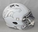 Terrell Davis Autographed Denver Broncos F/S ICE Helmet With HOF- JSA Witn Auth