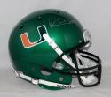 Michael Irvin Autographed Full Size Schutt Miami Hurricanes Green Helmet- JSA W