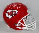 Travis Kelce Autographed Kansas City Chiefs Full Size Helmet  JSA W Auth *White