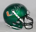 Warren Sapp Autographed MIami Hurricanes Green Full Size Helmet JSAW Auth Silver
