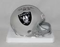 Ted Hendricks Autographed Oakland Raiders Current Mini Helmet With HOF- JSA W Auth