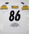 Hines Ward Autographed White Pro Style Jersey Stat2 and JSA Witness