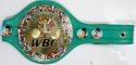 Floyd Mayweather Autographed Green WBO Boxing Belt Beckett BAS *Silver*