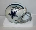 Mel Renfro Autographed Dallas Cowboys Mini Helmet- JSA Witnessed Auth HOF 96 ins
