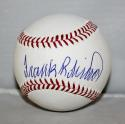 Frank Robinson Autographed Rawlings OML Baseball JSA Witness Authenticated