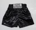Floyd Mayweather Autographed Black Custom Trunks Beckett BAS *Black*