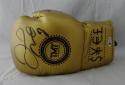 Floyd Mayweather Autographed Gold TMT Custom Boxing Glove - Beckett Authentic