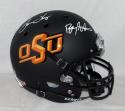 Barry Sanders / Thurman Thomas Autographed Oklahoma State Black F/S Helmet JSAW