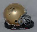 Golden Tate Autographed Notre Dame Fighting Irish Schutt Mini Helmet JSA W Auth
