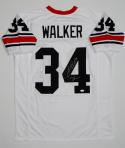 Herschel Walker Autographed White College Style Jersey with Heisman- JSA W Authenticated