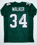 Herschel Walker Autographed Green Pro Style Jersey- JSA W Authenticated