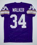 Herschel Walker Autographed Purple Pro Style Jersey- JSA W Authenticated