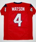 Deshaun Watson Autographed Red Pro Style Jersey- Beckett Authenticated