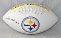 Antonio Brown Autographed Pittsburgh Steelers Logo Football- JSA W Auth