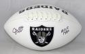 Jim Otto Autographed Oakland Raiders Logo Football W/ HOF- JSA W Authenticated