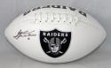 Sebastian Janikowski Autographed Oakland Raiders Logo Football with JSA W Auth
