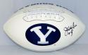 Jim McMahon Signed/ Autographed BYU Cougars Logo Football- JSA Auth