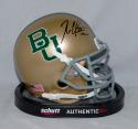 Robert Griffin III Autographed Baylor Bears Gold Mini Helmet- JSA Witnessed Auth