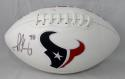 Jadeveon Clowney Autographed Houston Texans Logo Football- JSA Witnessed Auth