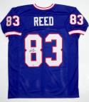Andre Reed Autographed Blue Pro Style Jersey w/ HOF- SGC Auth