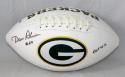 Dave Robinson Signed Green Bay Packers Logo Football w/HOF- Jersey Source Auth
