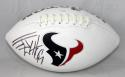 JJ Watt Autographed Houston Texans Logo Football with JSA Witnessed Auth