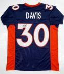 Terrell Davis Signed / Autographed Blue Jersey - JSA W Authenticated  HOF 17 INS